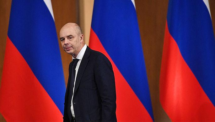 Министр финансов России Антон Силуанов перед началом совместного заседания под председательством...