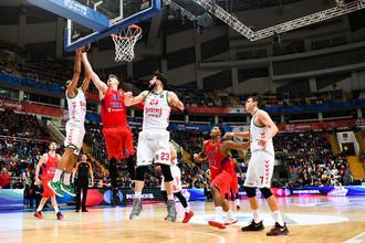 ЦСКА одержал победу в первом четвертьфинальном матче Евролиги над испанской «Басконией»