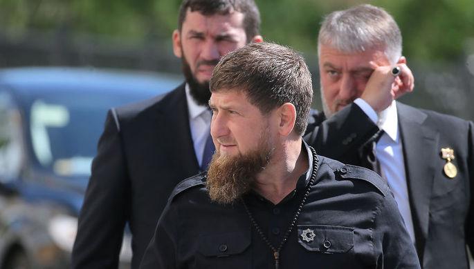 Глава Чечни Рамзан Кадыров, спикер парламента республики Магомед Даудов и депутат Адам Делимханов...