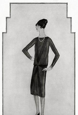 То самое «маленькое черное платье», рисунок Коко Шанель