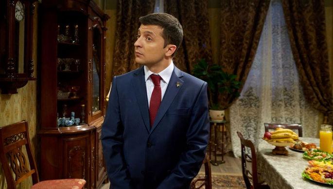 Владимир Зеленский на кадре из сериала «Слуга народа»
