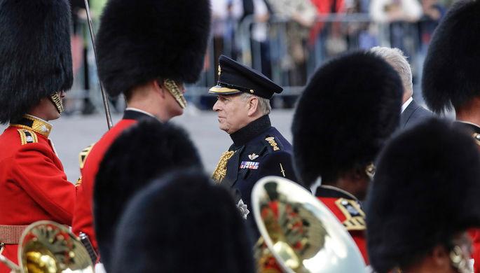 Герцог Йоркский Эндрю во время памятного мероприятия в бельгийском Брюгге, сентябрь 2019 года