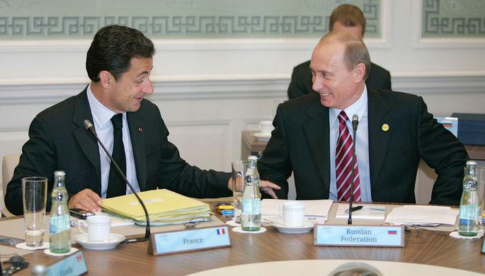 Президент Франции Николя Саркози и президент России Владимир Путин во время рабочего заседания глав «Группы восьми» в немецком Хайлигендамме, 2007 год