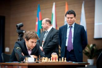 Матч Аронян — Карякин на турнире претендентов в Ханты-Мансийске