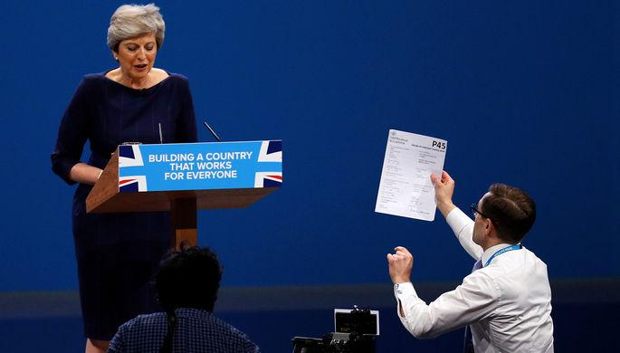 Речь премьер министра Великобритании Терезы Мэй на закрытии съезда правящей Консервативной партии, 4...