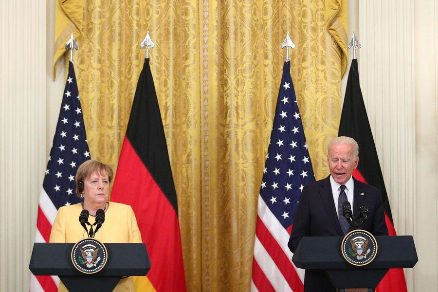 Канцлер Германии Ангела Меркель и президент США Джо Байден