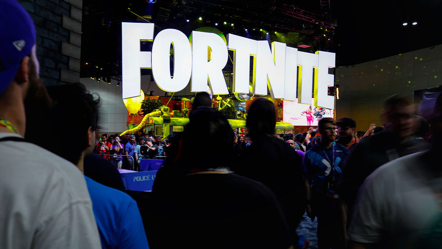 Стенд с игрой Fortnite на выставке E3 в Лос-Анджелесе, 2018 год