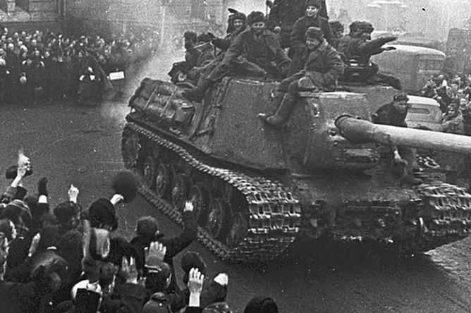 Встреча советских войск в Лодзи