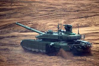 Танк Т-14 «Армата» во время совместных стратегических учений (ССУ) «Запад-2017» вооружённых сил Союзного государства России и Белоруссии на полигоне «Лужский»
