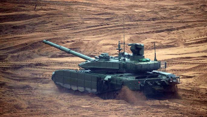 Танк Т-14 «Армата» во время совместных стратегических учений (ССУ)...