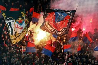 Фанаты ЦСКА на матче 18-го тура РФПЛ