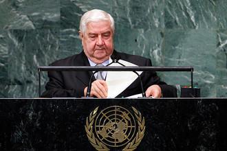 Глава МИД Сирии Валид Муаллем обрушился с резкой критикой на арабские страны