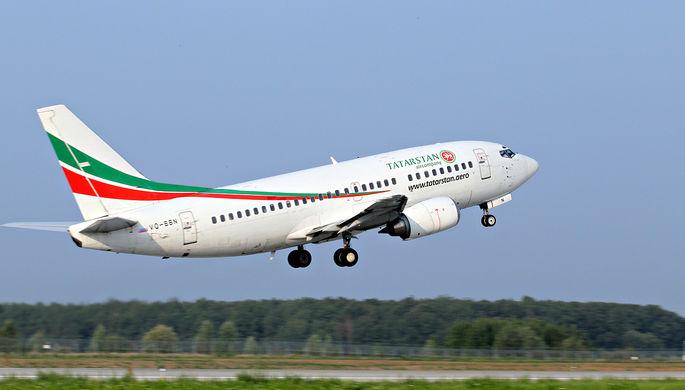 Пассажирский самолет Boeing-737-500 авиакомпании «Татарстан» (бортовой номер VQBBN) во время взлета в аэропорту Казани. (Фото из архива)