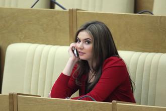 Олимпийская чемпионка по художественной гимнастике Алина Кабаева на заседании Государственной думы Российской Федерации
