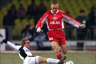 Один из самых популярных игроков «Спартака» Андрей Тихонов