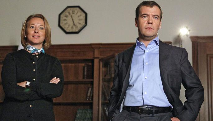 Дмитрий Медведев и его пресс-секретарь Наталья Тимакова, 2010 год