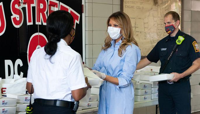 Доставка обедов: чем занимается Меланья Трамп в пандемию