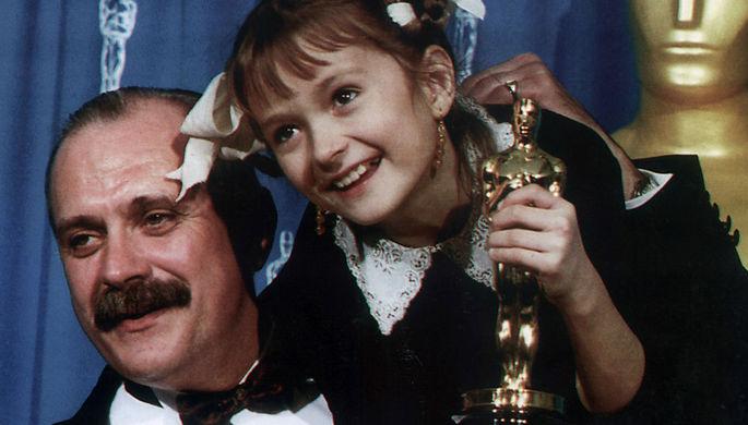Никита Михалков с дочерью Надей, 1995 год