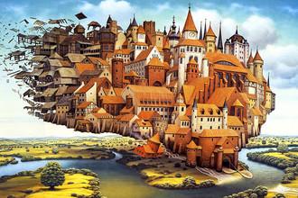 Иллюстратор фэнтези Яцек Йерка превращает дома и города в живые существа