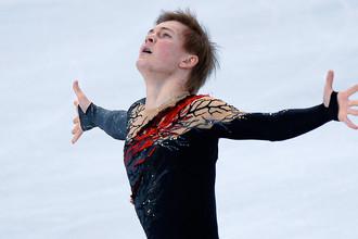 Михаил Коляда в произвольной программе на чемпионате мира по фигурному катанию в Бостоне
