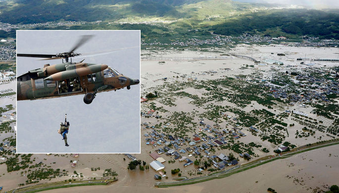 Удар «Хагибиса»: в Японии растет число жертв тайфуна