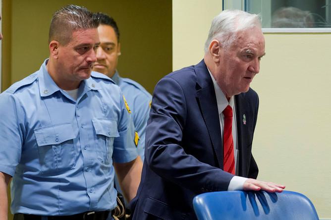 Радко Младич во время вынесения приговора, 22 ноября 2017 года