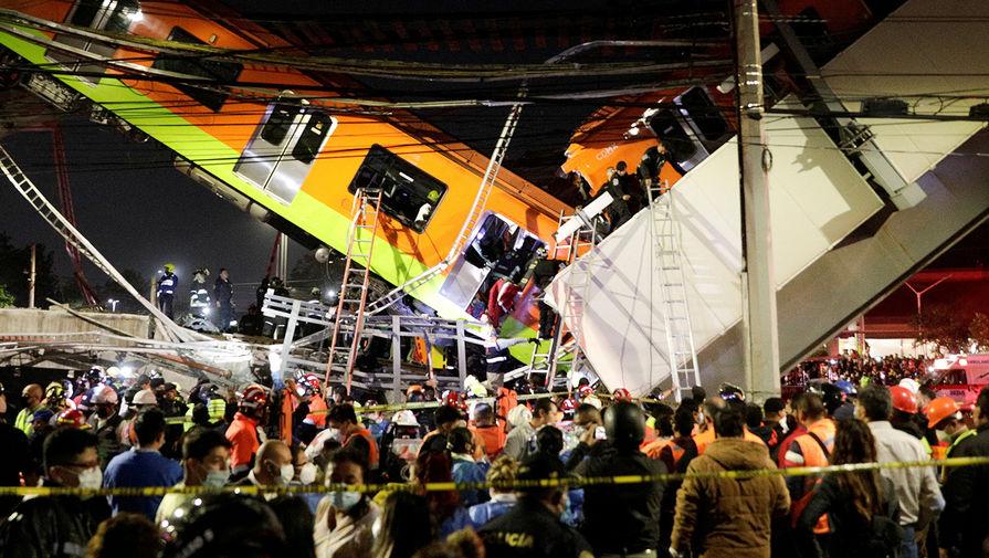 Мэр Мехико заявила о гибели 15 человек при крушении метромоста