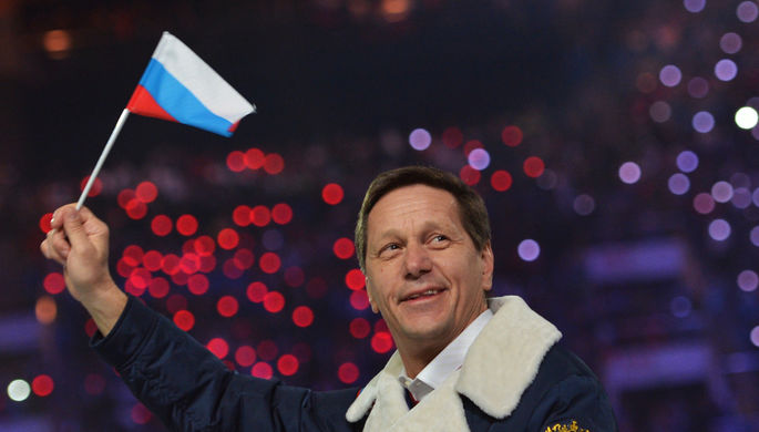 Президент ОКР Александр Жуков во время парада на церемонии открытия XXII зимних Олимпийских игр в Сочи