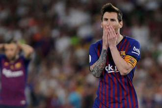 Лионель Месси в матче «Барселона» — «Валенсия»