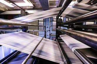 Печать газет в московской типографии
