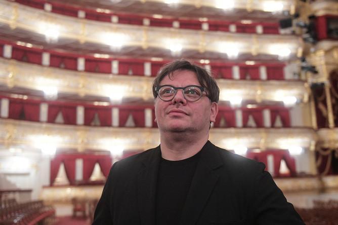 Валерий Тодоровский перед премьерой своего фильма «Большой» в Большом театре, 17 апреля 2017 года
