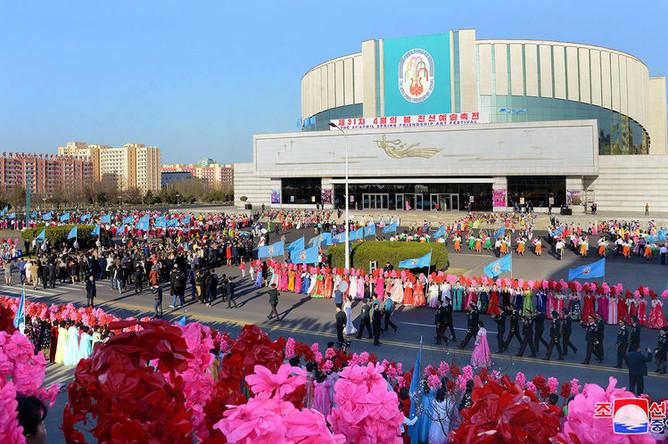 Празднование дня Солнца в Северной Корее, 12 апреля 2018 года