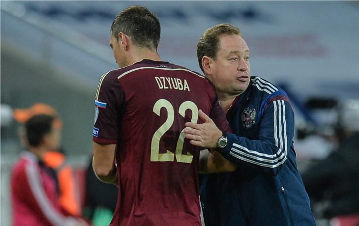 Главный тренер Леонид Слуцкий и форвард Артем Дзюба — возможно, главные надежды сборной России во Франции