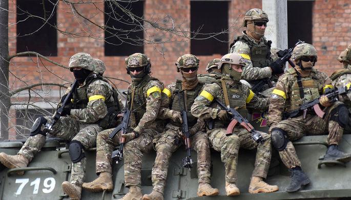 Военнослужащие Украины во время активной фазы совместных военных учений Украины и стран НАТО, 2020 год