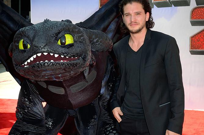 Кит Харингтон на премьере фильма «Как приручить дракона 2» в Лос-Анджелесе, 2014 год