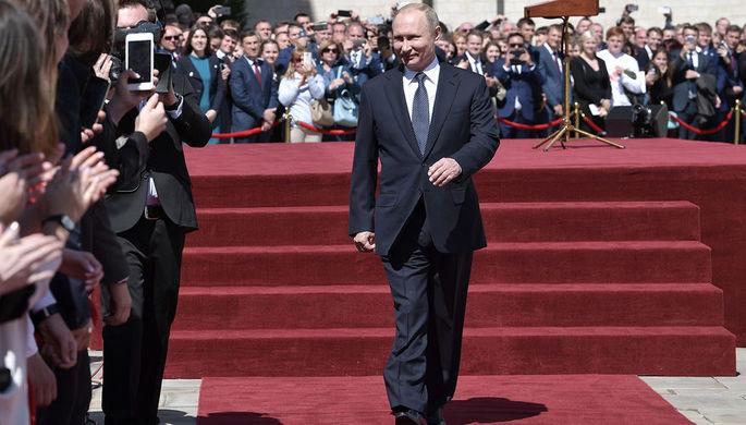 Президент России Владимир Путин после церемонии инаугурации в Кремле, 7 мая 2018 года