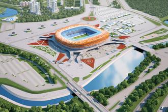 Макет будущего футбольного стадиона «Юбилейный» в Саранске
