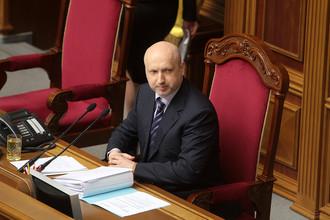 Александр Турчинов на заседании Верховной рады в Киеве