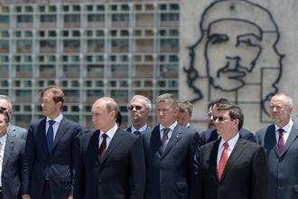 Владимир Путин на площади Революции в Гаване