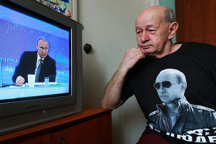 Во время прямой трансляции телепрограммы «Прямая линия с президентом Владимиром Путиным»