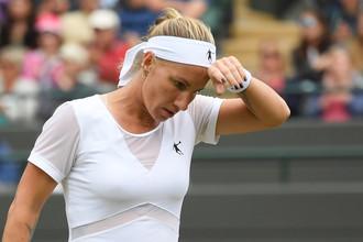 Светлана Кузнецова проиграла в четвертьфинале Уимблдона Гарбинье Мугурусе