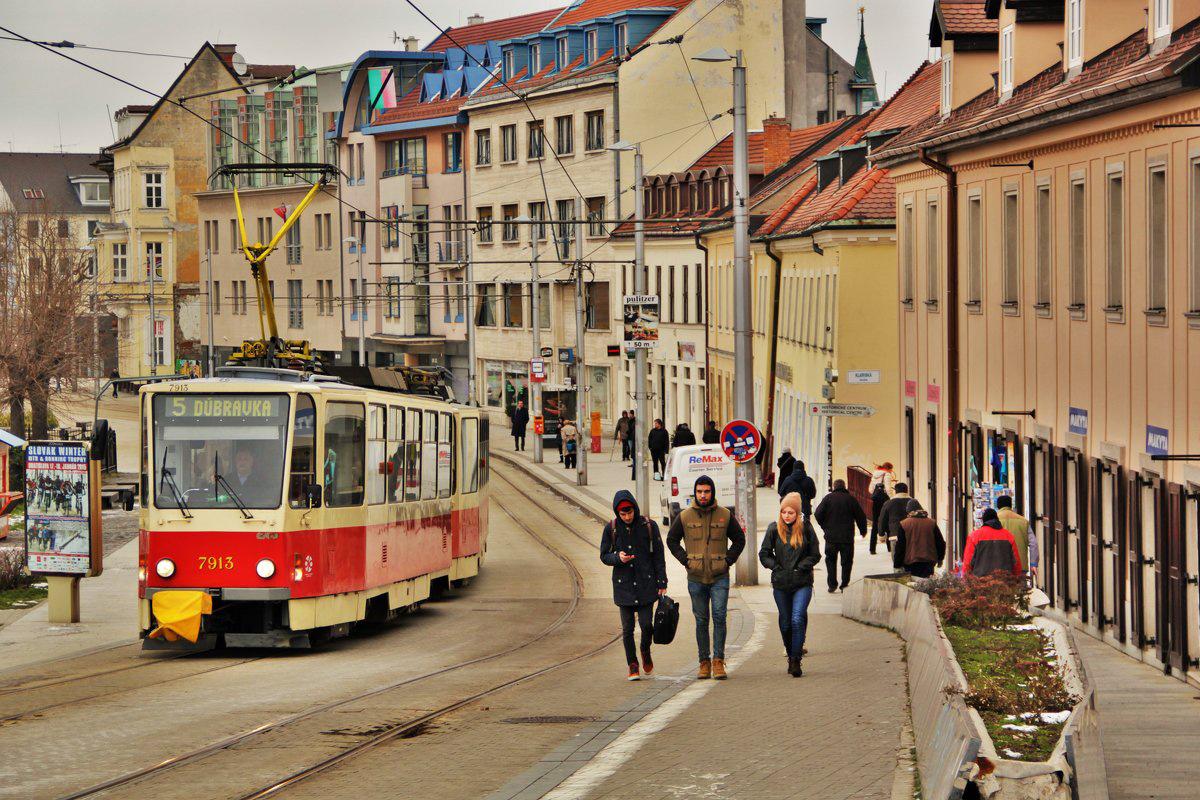 Улица в Братиславе, Словакия
