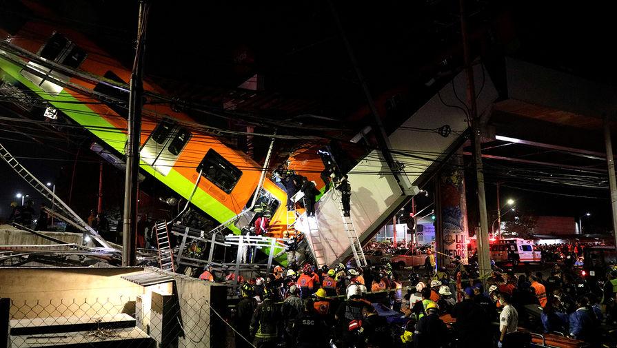 В результате крушения метромоста в Мехико погибли 13 человек, 70 пострадали