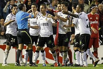 У игроков «Валенсии» и «Реала» было немало претензий к арбитру