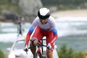 Российская велогонщица Ольга Забелинская завоевала серебряную медаль в гонке с раздельным стартом