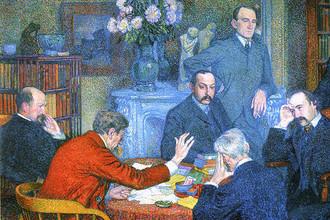 Тео ван Рейссельберге. Чтение Эмиля Верхарна (1903). Фрагмент
