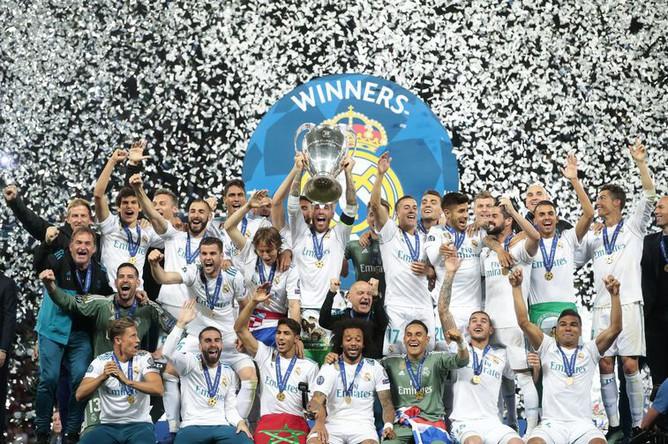 «Реал» празднует победу в Лиге чемпионов