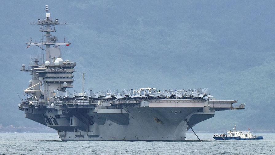 Пентагон не собирается эвакуировать экипаж авианосца Theodore Roosevelt