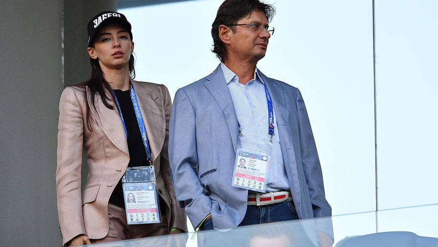 Зарема Салихова и председатель совета директор ФК «Спартак» Леонид Федун, 2018 год