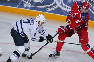Московские ЦСКА и «Динамо» встречаются в матче КХЛ